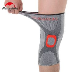 f9080c325b NatureHike Elastic Knee Support Brace Kneepad Volleyball Adjustable Knee  Pads Basketball Safety Guard Strap M L XL-in Elbow & Knee Pads from Sports  ...