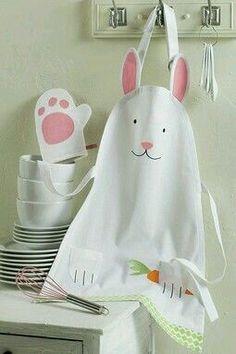 PETER COTTONTAIL~ Rabbit apron.