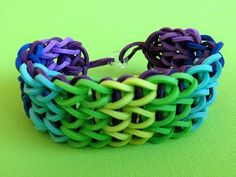 Grapevine Rubber Band Bracelet by picopicogirl on Etsy
