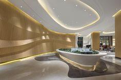 Lobby Interior, Office Interior Design, Office Interiors, Interior Lighting, Interior Architecture, Interior And Exterior, H Design, Wall Design, Design Ideas