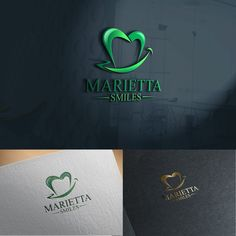 Create an elegant yet contemporary logo for Marietta Smiles, a dental practice. by BenJO™ Dental Clinic Logo, Dentist Logo, Brand Identity, Logo Branding, Dental Business Cards, Dental Office Decor, Smile Dental, Smile Design, Bussiness Card
