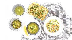 Riz cantonais végétarien (pour bébé et toute la famille) | Cuisinez pour bébé Palak Paneer, Food And Drink, Menu, Eggs, Plates, Diet, Cooking, Breakfast, Tableware