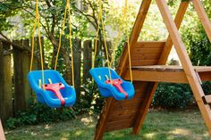 swings on the swing set Build A Swing Set, Diy Swing, Swing And Slide, Diy Playground, Wooden Swings, Play Areas, Outdoor Living, Projects To Try, Make It Yourself
