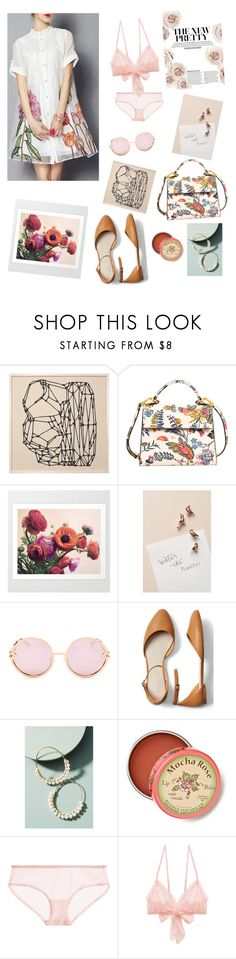 """babe with the flowers"" by clementineboo ❤ liked on Polyvore featuring Tory Burch, Anthropologie, Quay, Gap, Calvin Klein Underwear and Only Hearts"