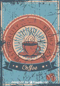 Café poster vintage de melhor qualidade grunge