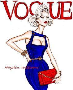 fashion sketches hayden williams vogue   VOGUE by Hayden Williams