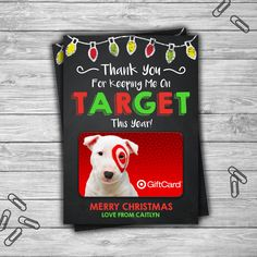 PRINTABLE Personalized Christmas Gift Card Holder - Target End Of School Year Gift Card Teacher Daycare Coach Gift Idea - Digital File by TheDigiSloth on Etsy https://www.etsy.com/listing/495278393/printable-personalized-christmas-gift