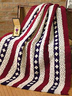 free pattern for let freedom ring afghan Pattern calls for 2 Skeins each (8 oz. per skein) Aran #313, Burgundy #376, and Soft Navy #387.
