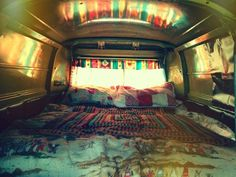 Hippie van interior #vanlife