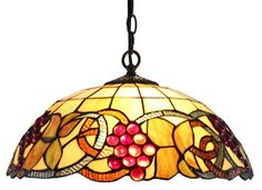 Tiffany Style Colorful Hanging Lamp