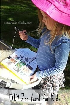 Fun Literacy Activity: Zoo Hunt for Kids. Perfect for your next zoo trip.