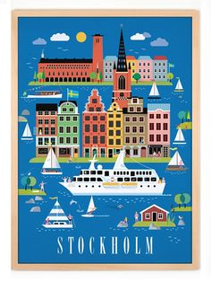 *NEW* Stockholm Poster (50x70cm) by Human Empire Studio