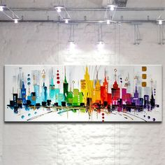 Discover thousands of images about VIBRANT CITY Gemälde abstrakt Bild Kunst Malerei Art Works, Watercolor Art, Abstract Pictures, City Painting, Art Painting, Abstract Painting, Painting, Abstract, Artwork Painting
