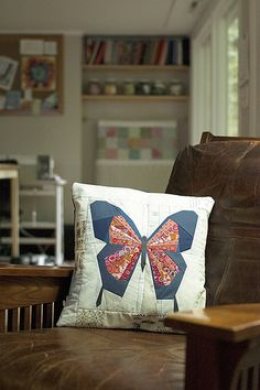 4 Butterfly Pillow in my sewing space