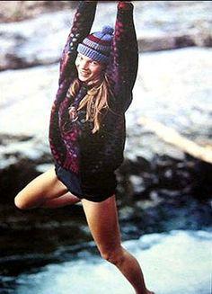 Kate Moss wears Kaffe Fassett in the 10th issue of Rowan