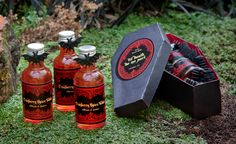 Cranberry Spice Infused Vodka + DIY Coffin Gift Box--Fun Halloween or Goth wedding favors.