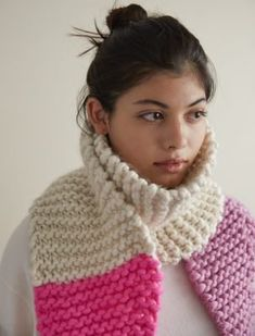 Color Tipped Scarf in Gentle Giant   Purl Soho