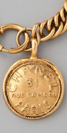 Vintage Chanel Paris Charm Bracelet. I would DIE if I got one of these! Or anything that is vintage Chanel