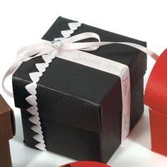 Seta Nero - Black Favor Boxes - CANADIAN BRIDAL