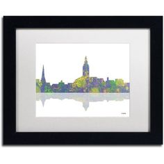 Trademark Fine Art Annapolis Maryland Skyline II Canvas Art by Marlene Watson White Mat, Black Frame, Size: 11 x 14