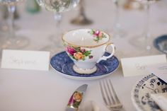 This reception is definitely our cup of tea | Photography by @krystalkast | Fearrington Real Weddings