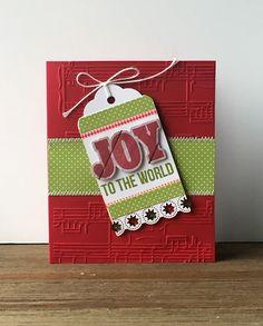 Hampton Art Blog: Joy To The World card by Patty Folchert