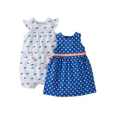 Carters 2 Piece Dot Dress and Romper Baby  BlueWhite18 Months ** You can find out more details at the link of the image.