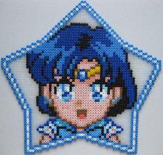 Sailor Mercury perler bead sprite by PlasticPixel on deviantart