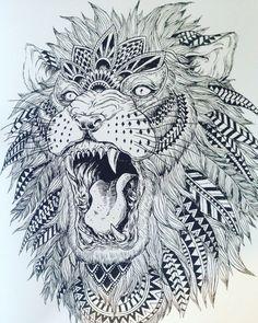 My next tattoo: Tribal Lion tattoo Mehr