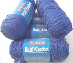 Coats and Clark Princess Knit and Crochet Yarn Medium Blue, only $14.95