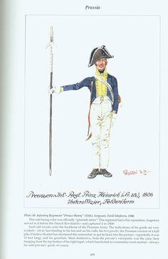 Prussia: Plate 10. Line Infantry Regiment Prince Henry (35th) Sergeant, Field Uniform, 1806