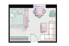 Sypialnia w salonie - Make Home Prettier