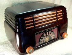 Exquisite 1946 General Electric Art Deco Bakelite Tube Radio Original Gem | eBay