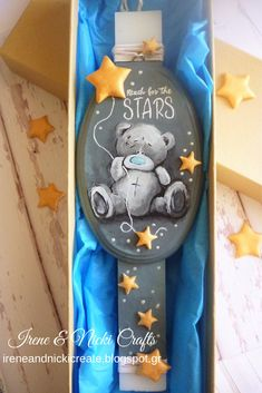New Design Easter Candle 2019 Now on Etsy Handpainted Tatty Teddy on Plaque Easter Decor, Easter Ideas, Easter Crafts, Easter Candle, Putz Houses, Light My Fire, Tatty Teddy, Candle Making, Holidays And Events
