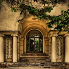 Columned Entryway, Brasov, Romania ~ photo via water Beautiful World, Beautiful Places, Beautiful Pictures, Amazing Places, Gates, Brasov Romania, Amazing Architecture, The Good Place, Entrance