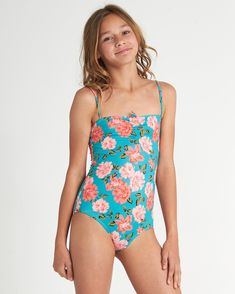 Sunny Shore One Piece 828570757793 Swimsuits For Tweens, Little Girl Swimsuits, Cute Little Girl Dresses, Girls One Piece Swimsuit, Beautiful Little Girls, Kids Swimwear, Preteen Girls Fashion, Kids Outfits Girls, Cute Girl Outfits