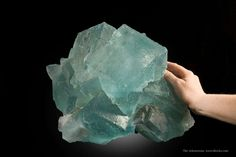 Fluorite La Viesca Mine,Spain Large Cabinet, 35.0 x 29.0 x 26.0 cm The photos tell the tale for this HUGE specimen of blue fluorite from the classic Spanish locale! The piece has crystals measuring to 14 and 21 cm on edge.  All major crystals are complete. For what this is, in the condition it is in, it is simply astonishing that it has survived. I have not seen a comparable example in this size and condition. Joe Budd photos.