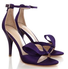 Coast's Lana purple satin sandals with bow