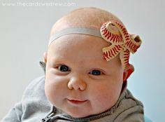 DIY Baseball Bow Headband - The Cards We Drew