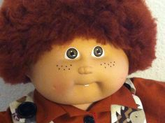 VINTAGE CABBAGE PATCH AUBURN #5 BOY CUSTOM FRECKLE FUZZY CLOTHES SHOES #DollswithClothingAccessories