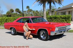 Muscle Cars For Sale, Chevy Muscle Cars, 1966 Chevy Impala, Vintage Cars For Sale, Impala For Sale, Luxury Car Dealership, Car Chevrolet, American Muscle Cars, Fort Myers