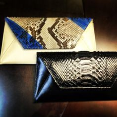 Sneak peek of ISLY Fall 13 Python Sona clutches! #isly #fall13 #beyond #stunning #blue #black #python #clutches #accessories #accessoryoftheday #handbags #clutch #purse #armcandy #eyecandy #soproud #instaclutch #style #fashion #instafashion #accessoryrhintank #sexy #covet #youwillwantanisly #chic #justbeyond