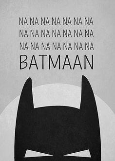 na na na batman poster