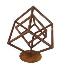 Home :: Garden Sculpture :: Freestanding Decorative Sculpture :: Outdoor Garden Sculpture Abstract Cube III