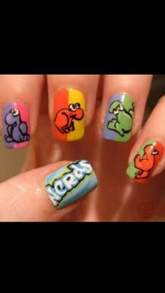 Candy Nerds Nail Animal Designs Cool Fingernail Fancy Nails