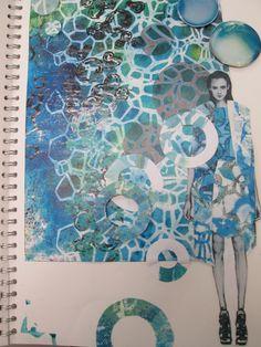 A Level Art Sketchbook, Sketchbook Layout, Textiles Sketchbook, Fashion Sketchbook, Sketchbook Inspiration, Fashion Illustration Collage, Sea Illustration, A Level Textiles, Art Alevel