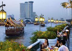 Cenando en Bangkok