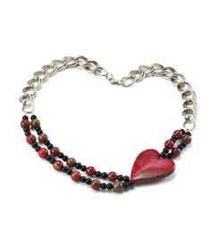 #DIY Beaded Heart Bracelet from Joann.com