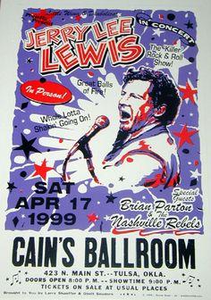 Jerry Lee Lewis concert poster