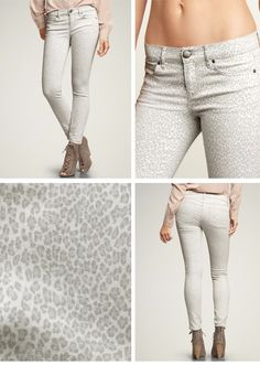 Skinny jeans with leopard print. I like the subtleness of the print